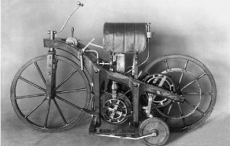 Мотоцикл Даймлера 1885 г.